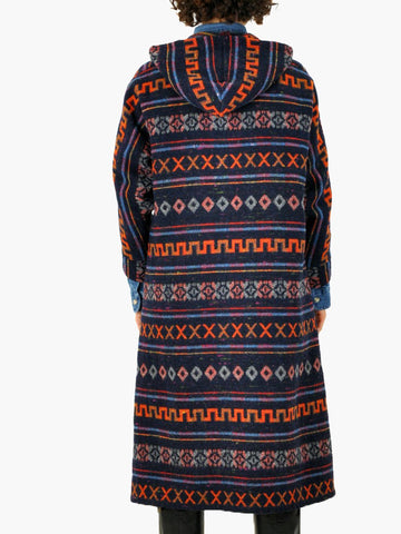 Vintage Hooded Tribal Print Coat