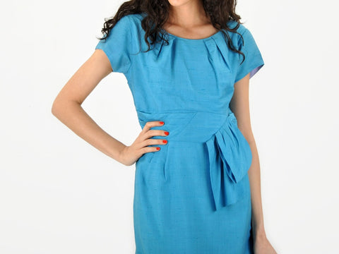 Vintage Baby Blue Shift Dress
