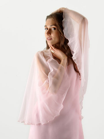 Vintage Pink Sheer Layered Hippie Dress