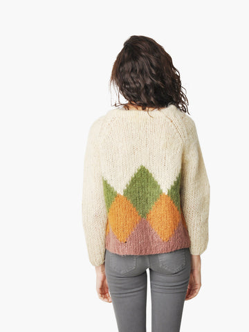 Vintage Argyle Italian Wool Knit Sweater