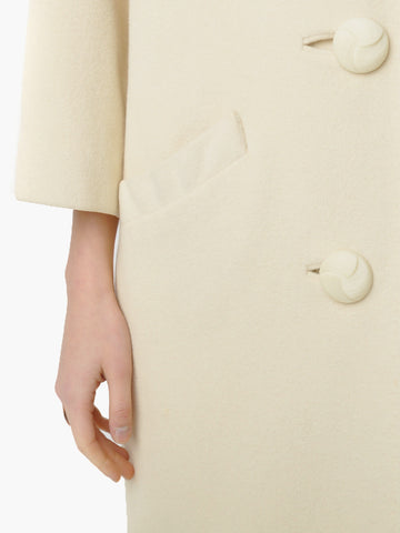 Vintage Bernhard Altmann Cream Wool Coat