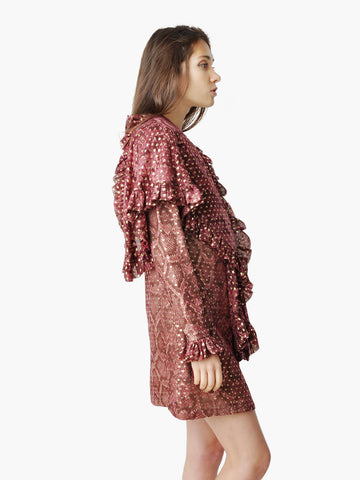 Vintage Bill Blass Snake Print Mini Dress