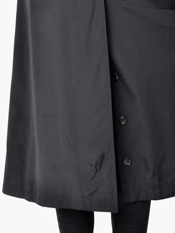Vintage Black Pierre D'alby Trench Coat