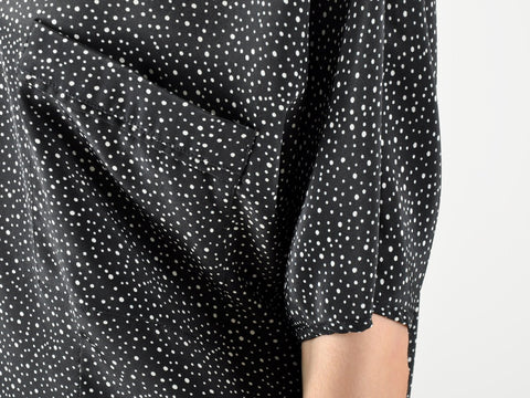 Vintage Black Speckled Blouse