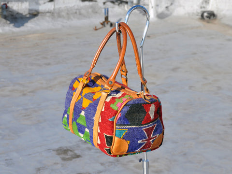 Bright Kilim Wool Doctor's Bag