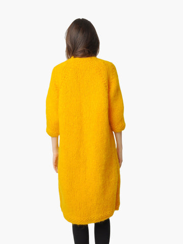 Vintage Marigold Hand Knit Sweater Coat