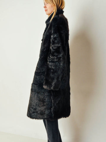Vintage Black Reversible Fur Coat