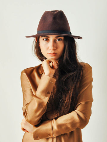 Vintage Brown Wool Hat