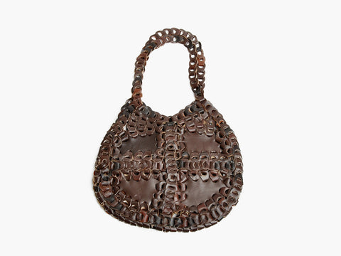 Vintage Brown Chainlink Leather Bag