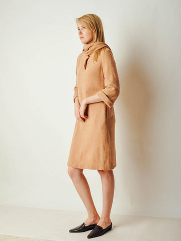 Vintage Camel Sweater Dress