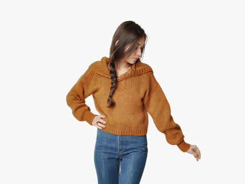 Vintage Carmelo Pomodoro Gold Knit Cropped Sweater