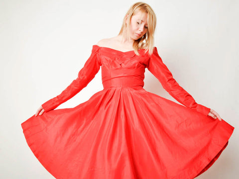 Vintage Red Ceil Chapman Dress