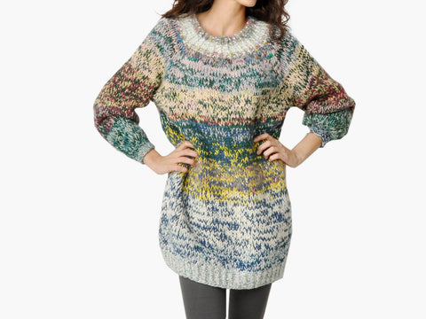 Vintage Chunky Multi-Colored Sweater