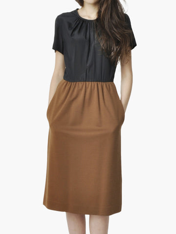 Vintage Black and Brown Two Toned Dress