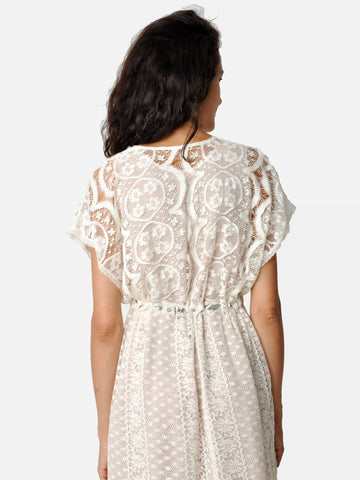 Cotton Lace Kimono Dress