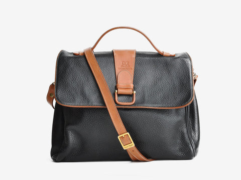 Vintage Courreges Two-Tone Black Bag