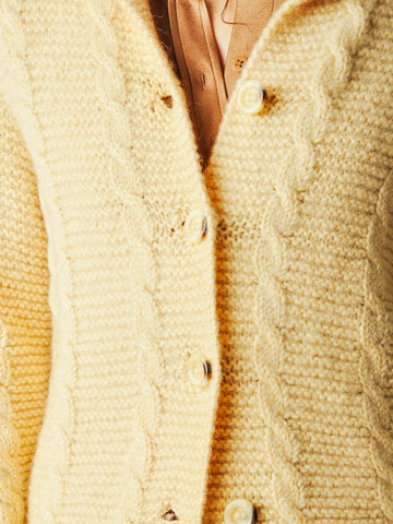 Vintage Cream Aran Sweater Coat