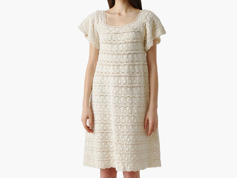 Vintage Tiered Cotton Lace Dress