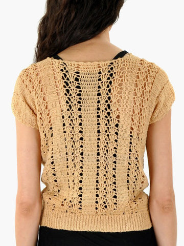 Vintage Gold Knit Sweater