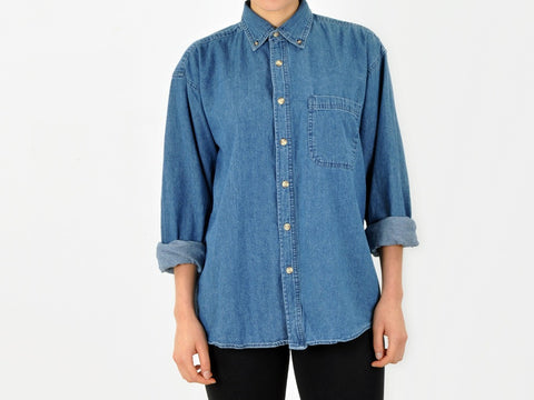 Vintage Sierra Denim Button Down Shirt