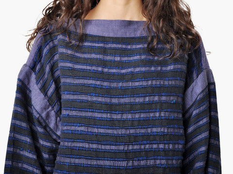 Vintage Striped Hand Woven Sweater