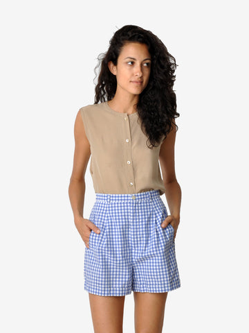Vintage Gap White and Blue Checkered Shorts