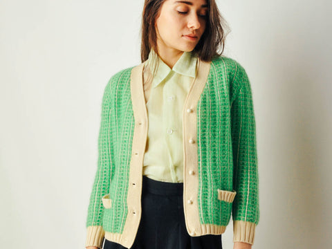 Vintage Lime Green Italian Sweater