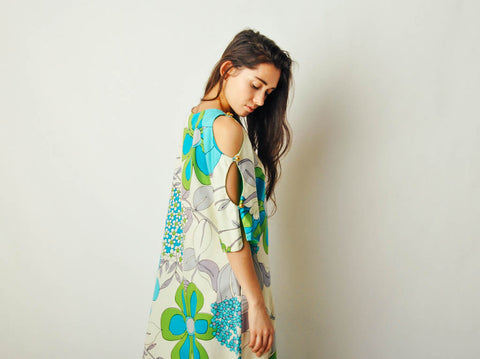 Vintage Hawaiian Cutout Dress