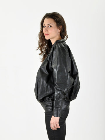 Vintage Hidy Misawa Black Leather Shirt