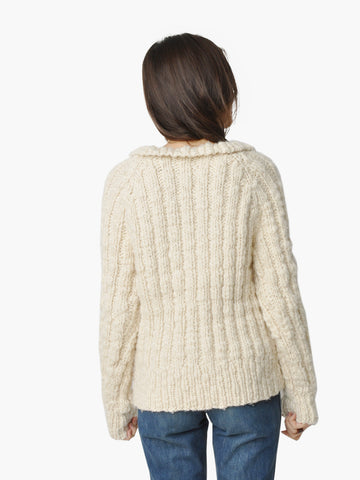 Vintage Chunky Rib Knit Sweater