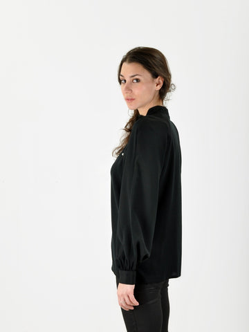 Vintage Black Silk Krizia Shirt