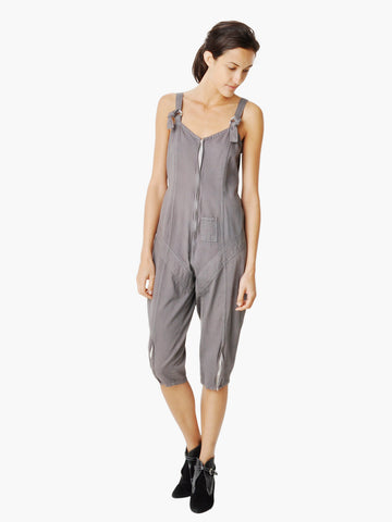 Vintage Gray Cotton Overalls