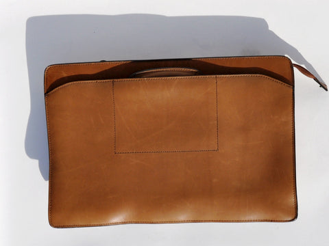 Vintage Convertible Leather Briefcase / Clutch