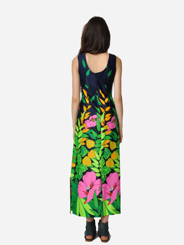 Vintage Lee Stevens Jungle Print Dress