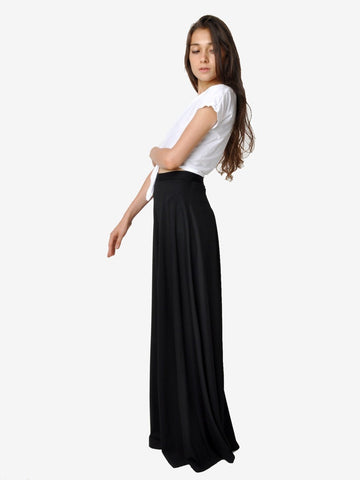 Vintage Lilli Diamond Black Wide Leg Palazzo Pants