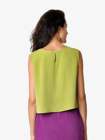 Vintage Lime Green Crop Top