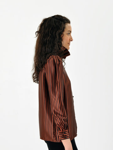 Vintage Carven Striped Blouse
