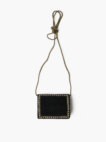 Vintage Black Velvet Mini Clutch
