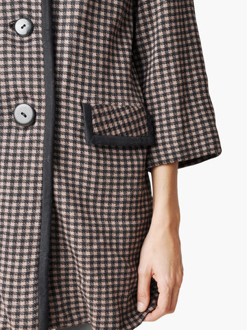 Vintage Brown and Black Checkered Coat