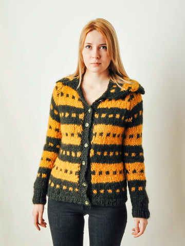 Vintage Abstract Mohair Cardigan