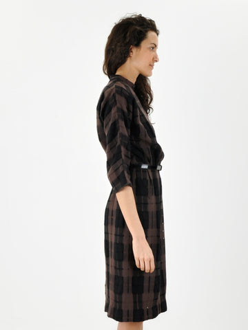 Vintage Plaid Knit Mr. Mort 60s Dress