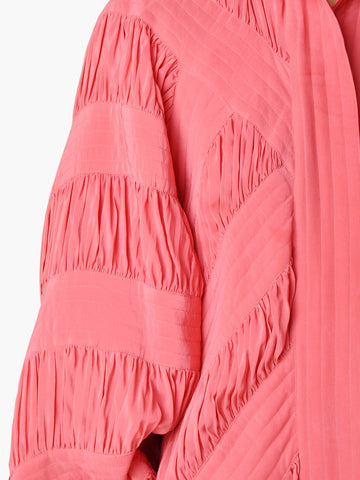 Vintage Pink Draped Jacket with Dolman Sleeves