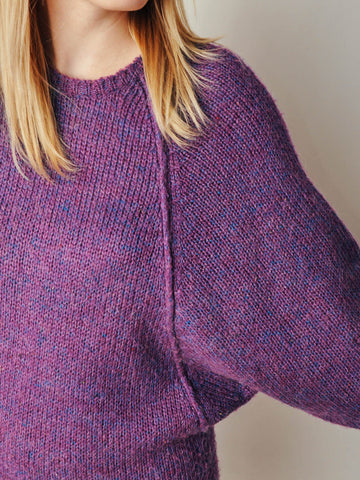 Vintage Purple Sweater Dress
