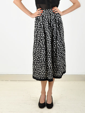 Vintage Black and White Richard Warren Skirt
