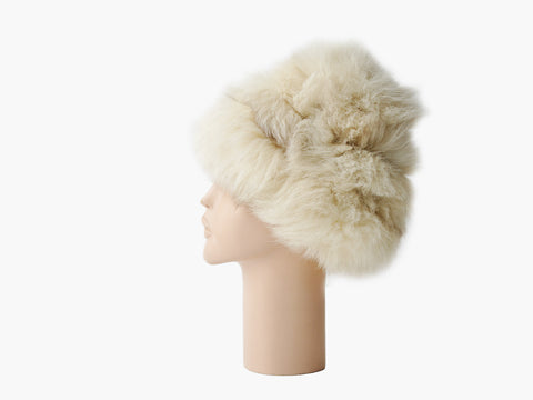 Vintage Arctic Fox Fur Hat