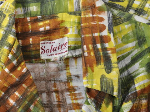 Vintage Solaire Paintbrush Print Top