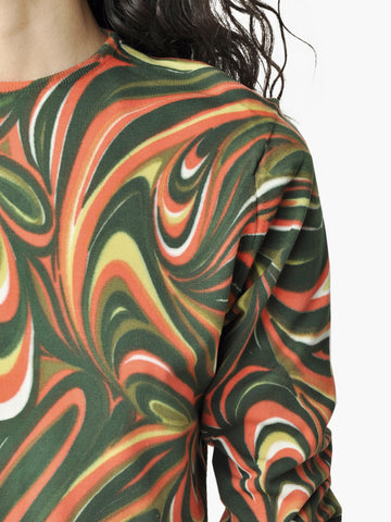 Vintage Psychedelic Spring Sweater