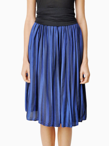 Vintage Two Tone Blue Striped Skirt