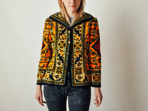 Vintage Adele Simpson Carpet Coat