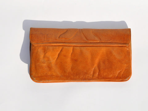 Western Quilted Leather Clutch